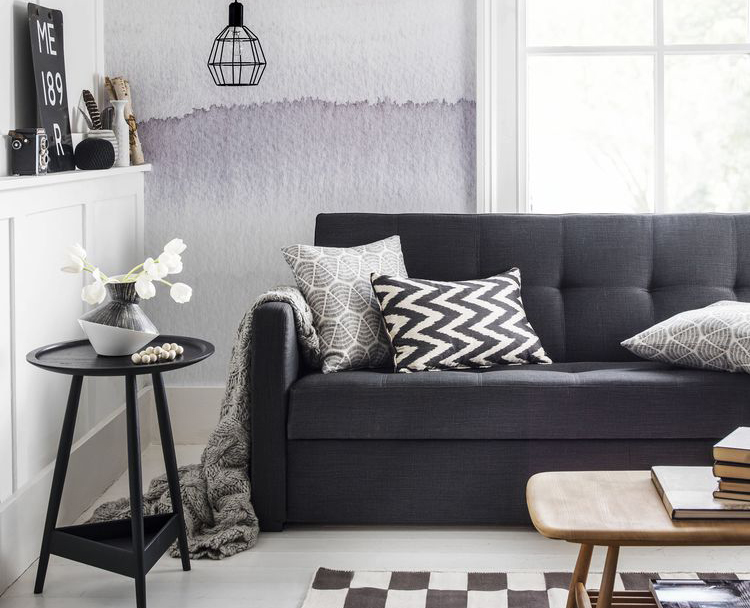 Living room grey couch