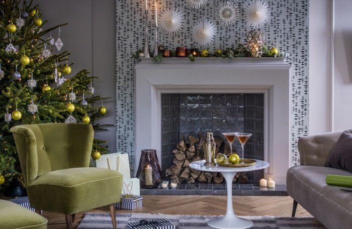 8 stylish christmas living room looks - Allestire casa per natale ...