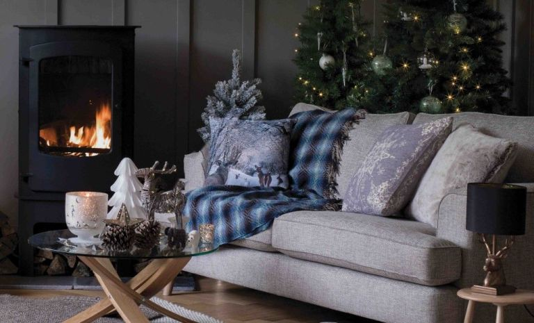 GBP1099 Woodland Scene Cushion GBP1950 Large Snowflake Moss Knit Throw GBP69 All Decorations From GBP350 Marks Spencer