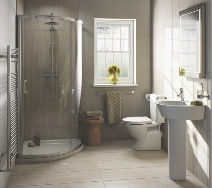 4 tips for small bathrooms for Pictures of beautiful small bathrooms