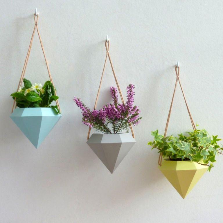 posh totty designs interiors hanging shaped planter