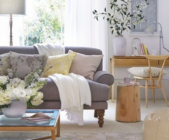 Top pin of the day a gorgeous neutral living room for Small neutral living room ideas
