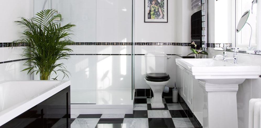 Art deco bathroom makeover