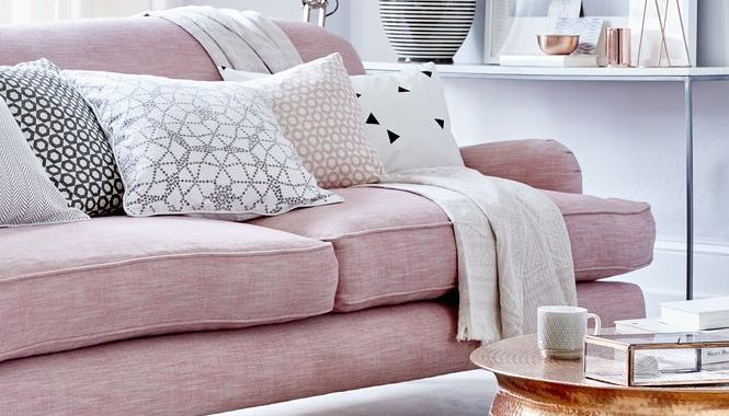grey and pink living room. pink and grey living room Top pin of the day  A pretty in