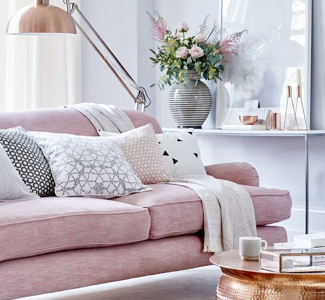 Pink And Grey Living Room Part 7