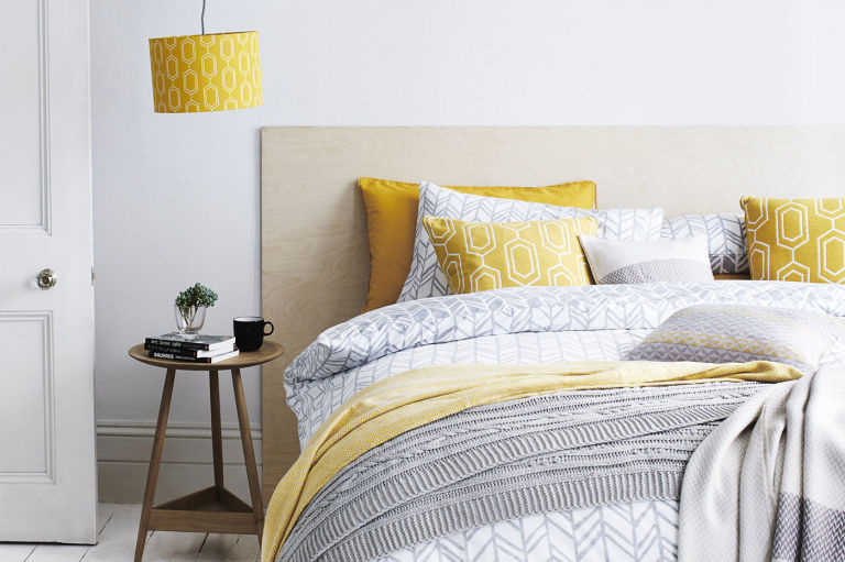 yellow and grey bedrooms