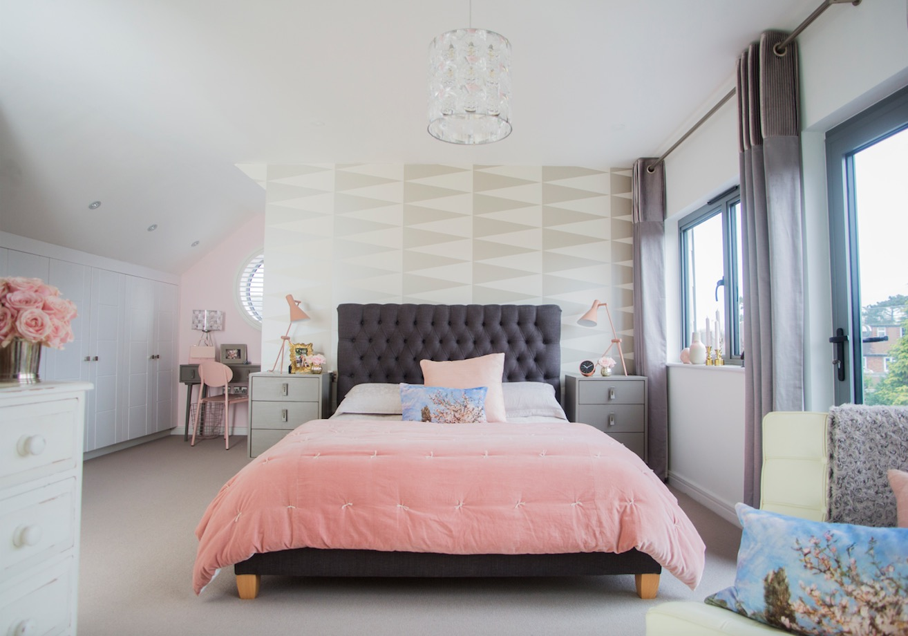 Makeover: Dingy loft transforms into glamorous bedroom ...