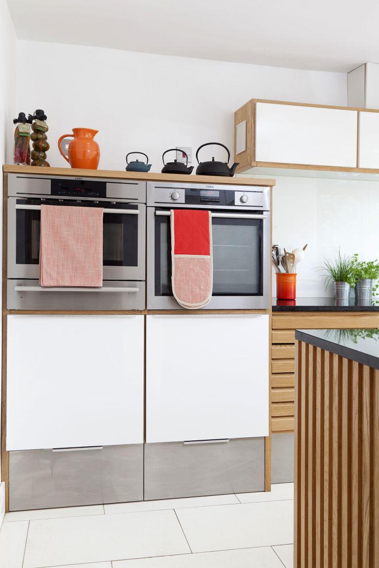 Retro Kitchen Renovation Bold Kitchen Makeover Orange Highlights With Retro Danish Styling