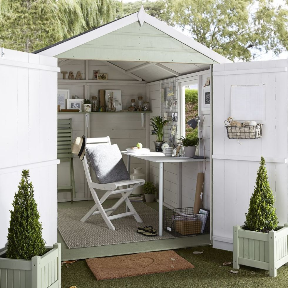 Conservatories, garden rooms and sheds: space-saving solutions and storage  ideas