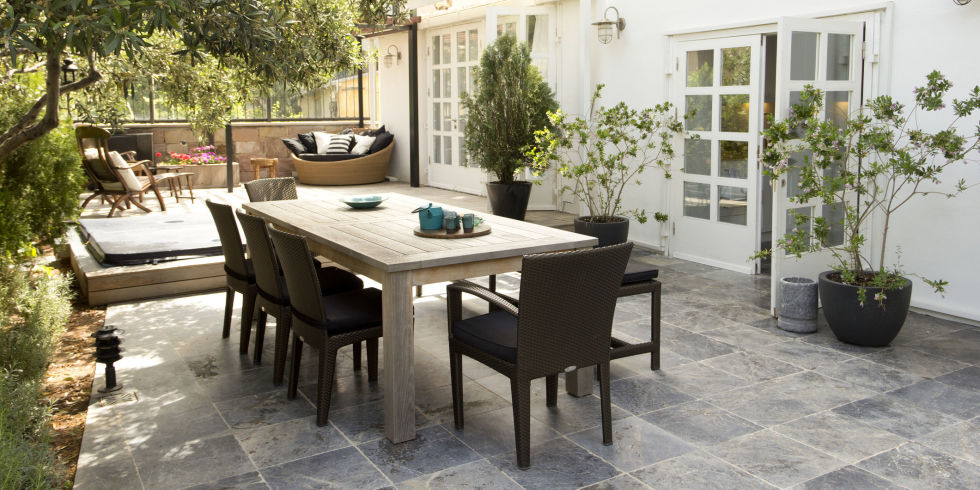 Outdoor Living With Wooden Tables Part 76