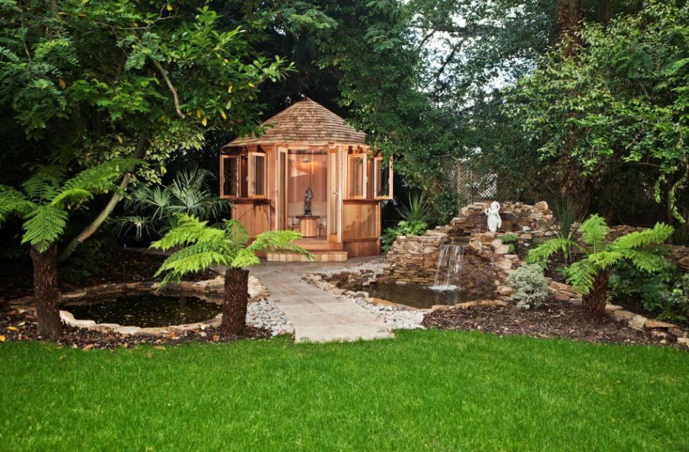 11 dreamy garden rooms and wooden gazebos