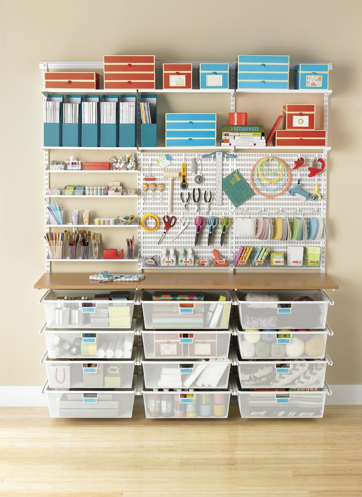 Garages space saving storage solutions to keep it tidy - Space saving garage shelves ideas must have ...