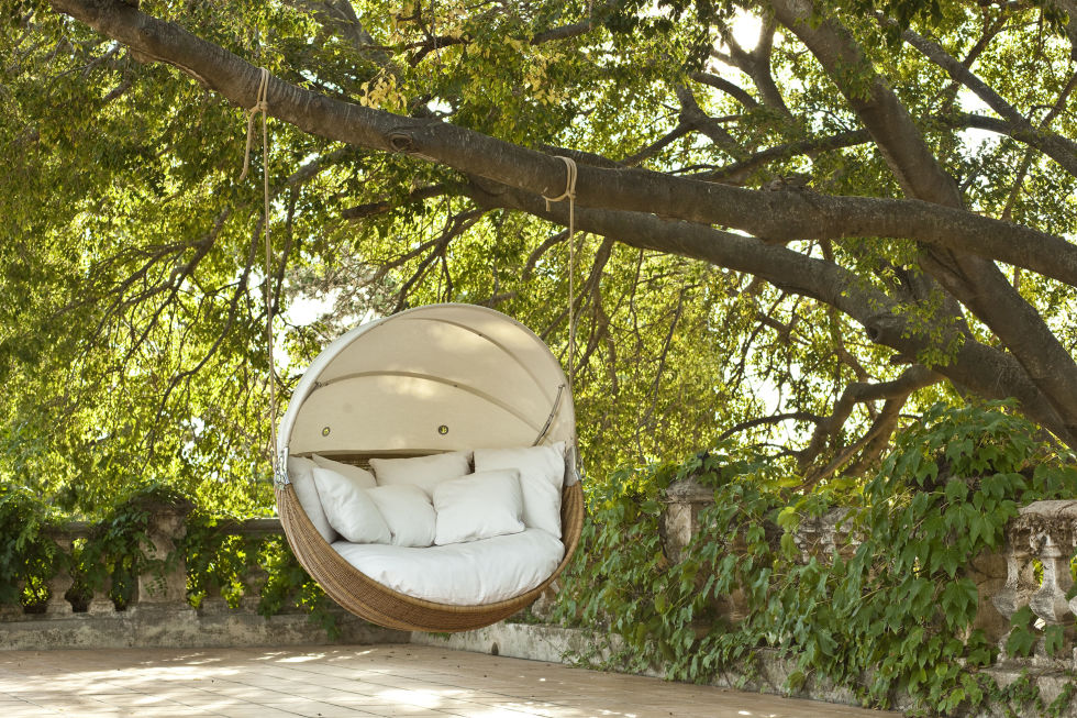 Marvelous Point Armadillo Swinging Garden Sofa Chair Is Contemporary Outdoor Furniture .