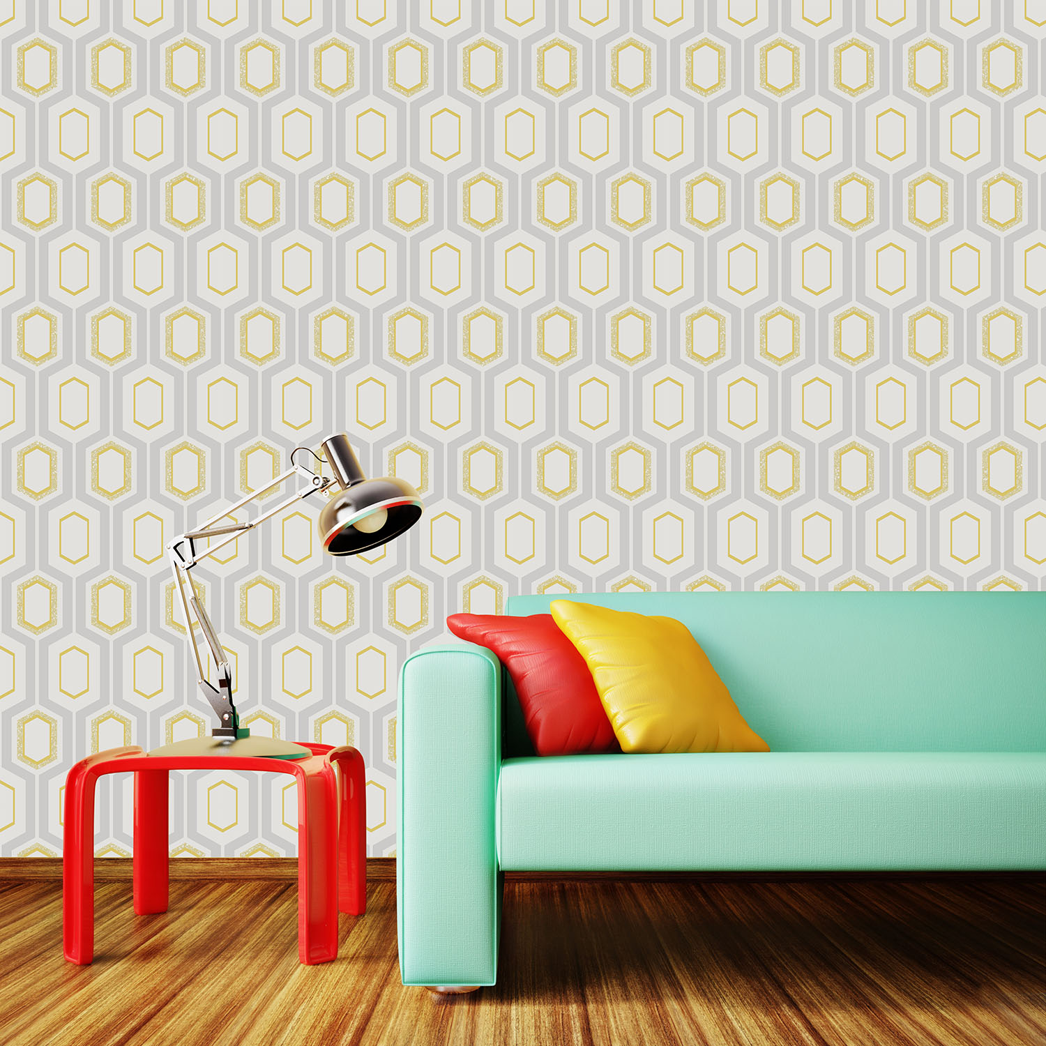 how to make your room look bigger with wallpaper
