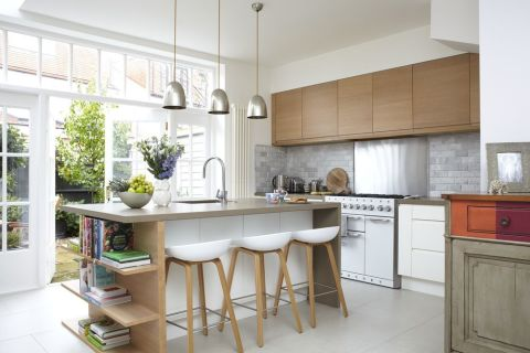Modern open plan kitchen and dining room is a storage dream for 16 image the family salon