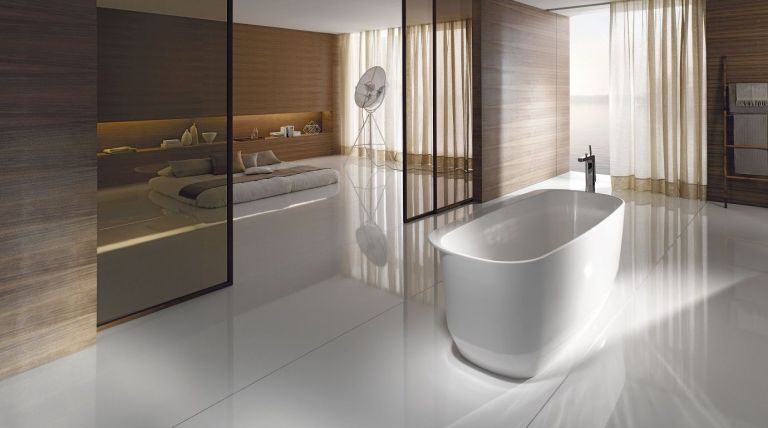 Minimalis gaya kamar mandi - berdiri bebas mandi - Hugo Oliver