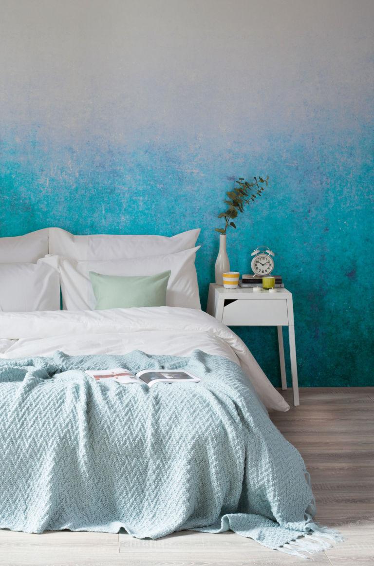 hb loves dip dye ombre wallpaper by murals wallpaper grunge blue dip dyed ombre wall mural by murals wallpaper