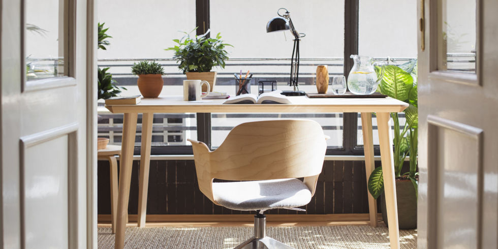 healthy home office design ideas. empty chair in home studyoffice getty lumina images healthy office design ideas e
