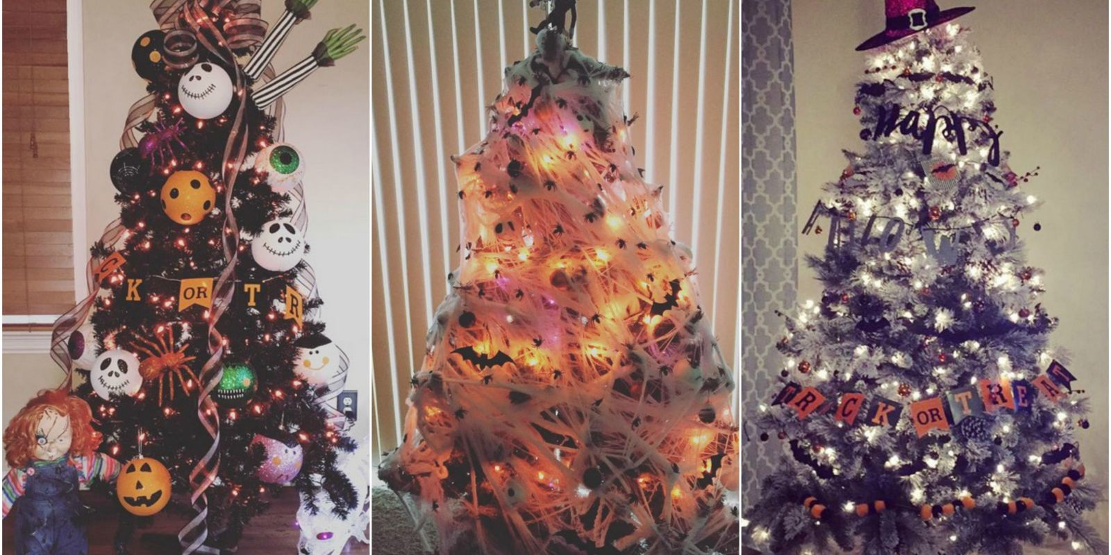 Halloween christmas tree ideas House beautiful christmas trees
