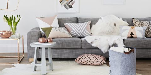 How to decorate using shades of grey for 60 minute makeover living room designs