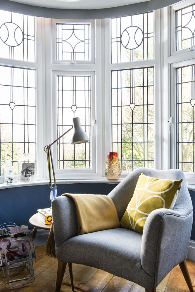 Blue Retro Living Room Inspired By Classic Books Part 82