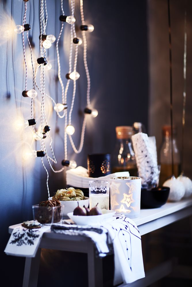 Fairy Lighting STR LA LED lighting chain with 12 bulbs  battery operated   indoor    Ikea. Countdown to Christmas  9 December is for fairy lights