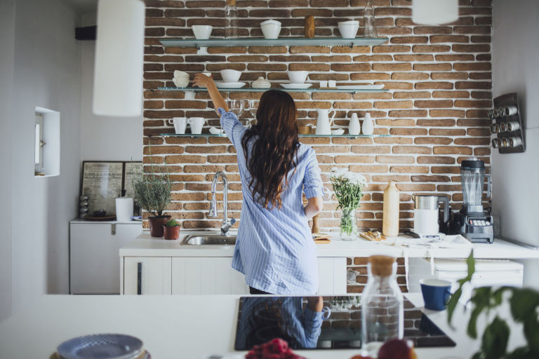 White Kitchen Feature Wall how to achieve a brick finish in your home