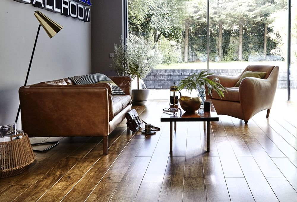 house beautiful - Flooring Ideas For Living Room