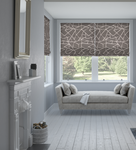 Smash Jet Roman blind   247 Blinds. 20 colour and interior window trends for 2017  blinds  curtains