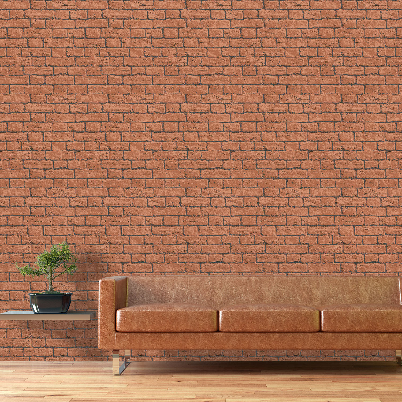 Stylish brick effect wallpaper designs brick wallpaper ideas for Brick wallpaper ideas