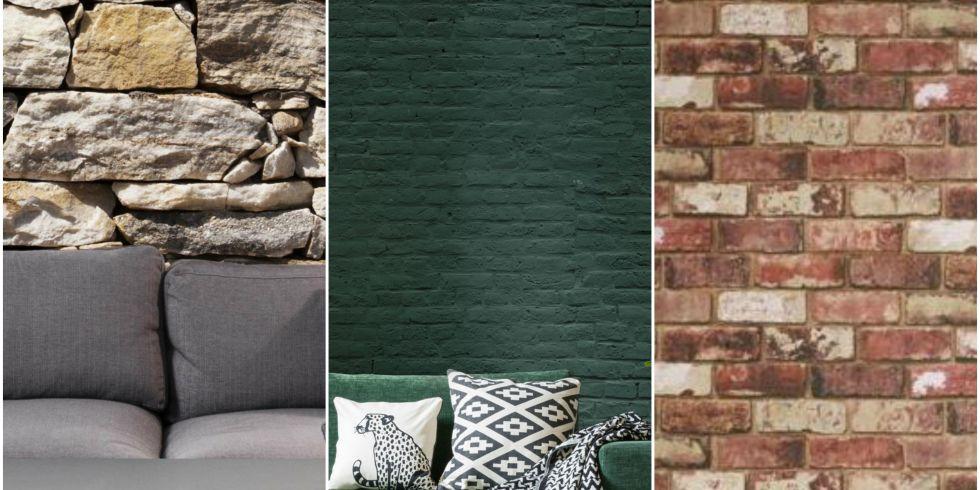 brick wallpaper collage - Brick Wallpaper Bedroom Ideas