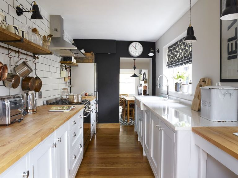 This Shakerstyle Galley Kitchen Merges Vintage With Contemporary