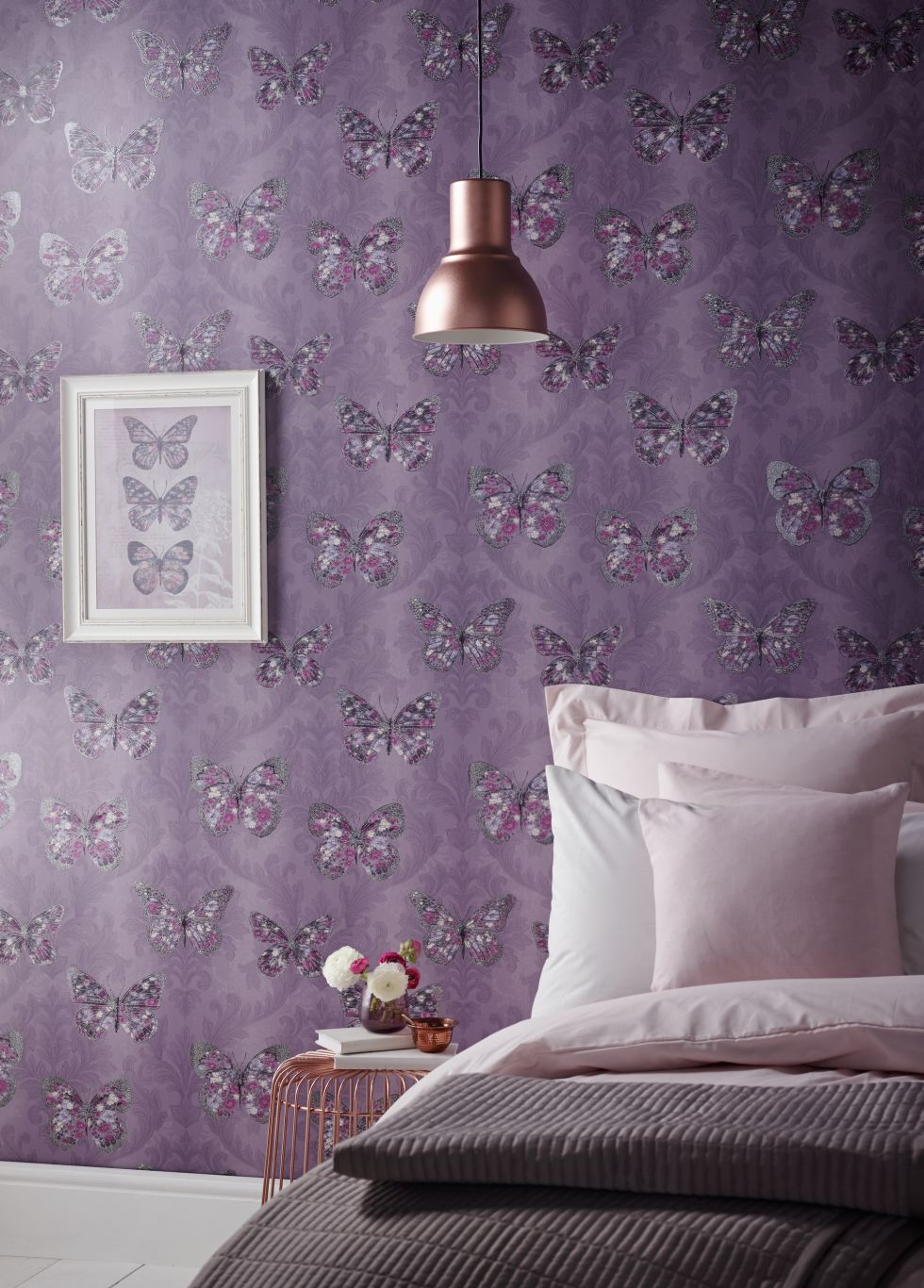 Pink And Purple Wallpaper For A Bedroom 10 Stylish Purple Wallpapers
