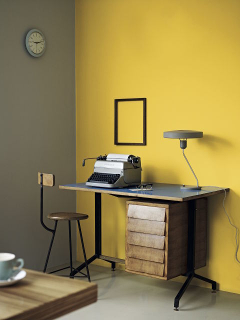 7 ways to decorate your home with pantone 39 s primrose yellow for Home wallpaper fired earth