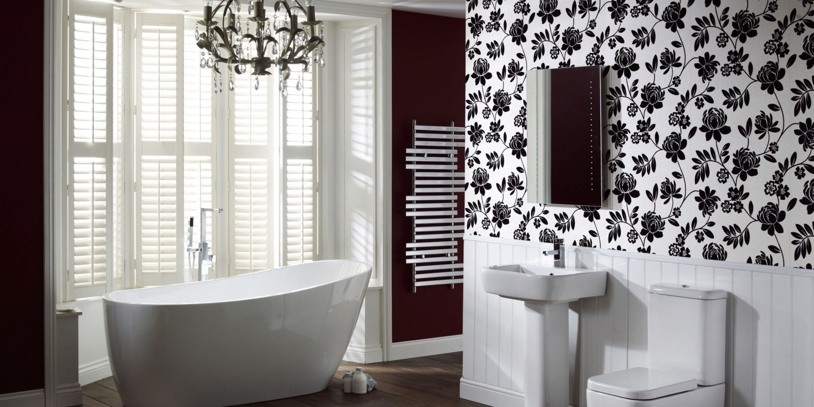 Can i use wallpaper in my bathroom for Bathroom ideas you can use