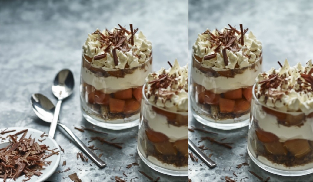 Persimmon Gingerbread Tiramisu