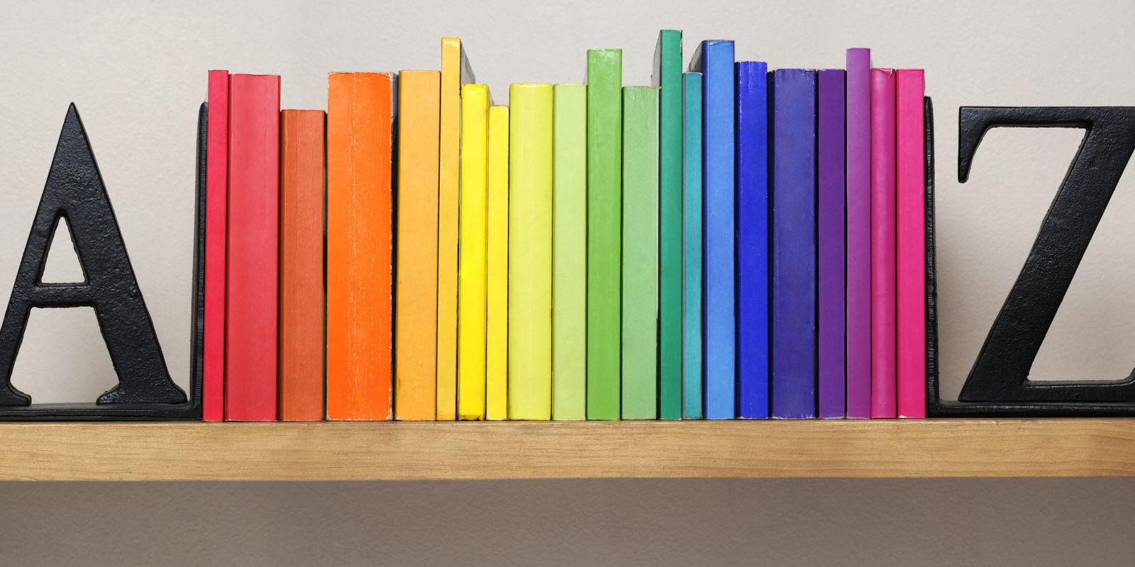 Co colour coordinated bookshelf - Co Colour Coordinated Bookshelf 59