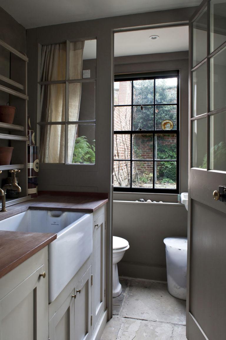 Cloakroom bathroom ideas - Basement Utility Room Whitechapel London