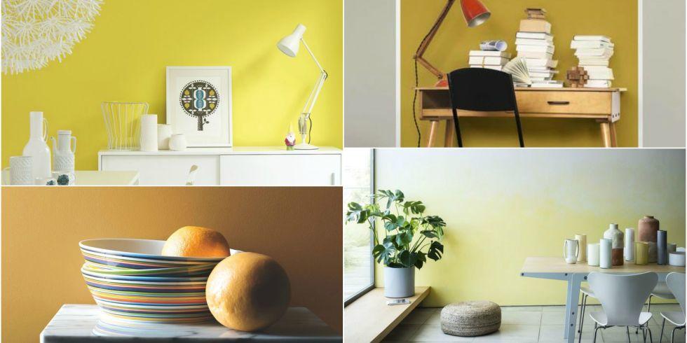 joyful yellow shades for modern room schemes