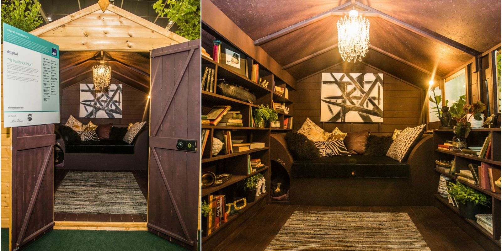 Cosy And Luxurious Reading Snug By Dappled Interiors Wins The Grand Shed Project
