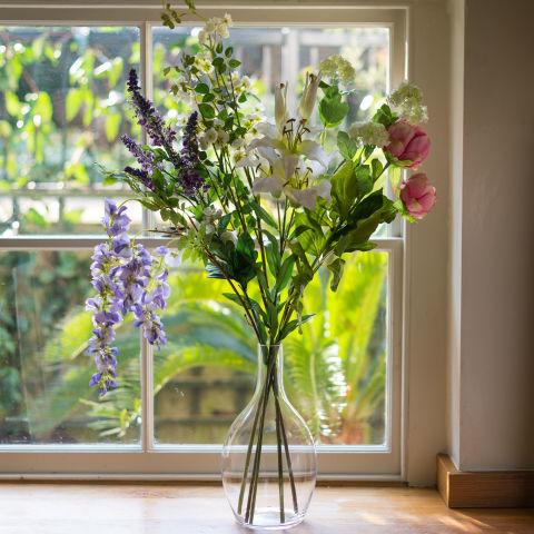 Faux Country Garden Flower Bouquet