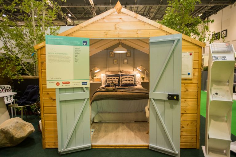 Grand Shed Project sponsored by AXA Insurance. Cosy and luxurious Reading Snug by Dappled Interiors wins the