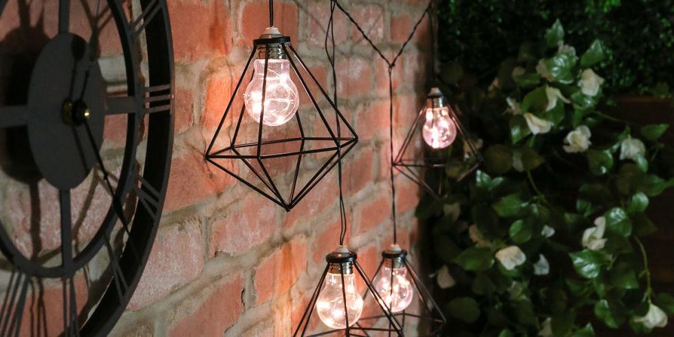 garden lighting ideas. summer garden outdoor festive lights lighting ideas e