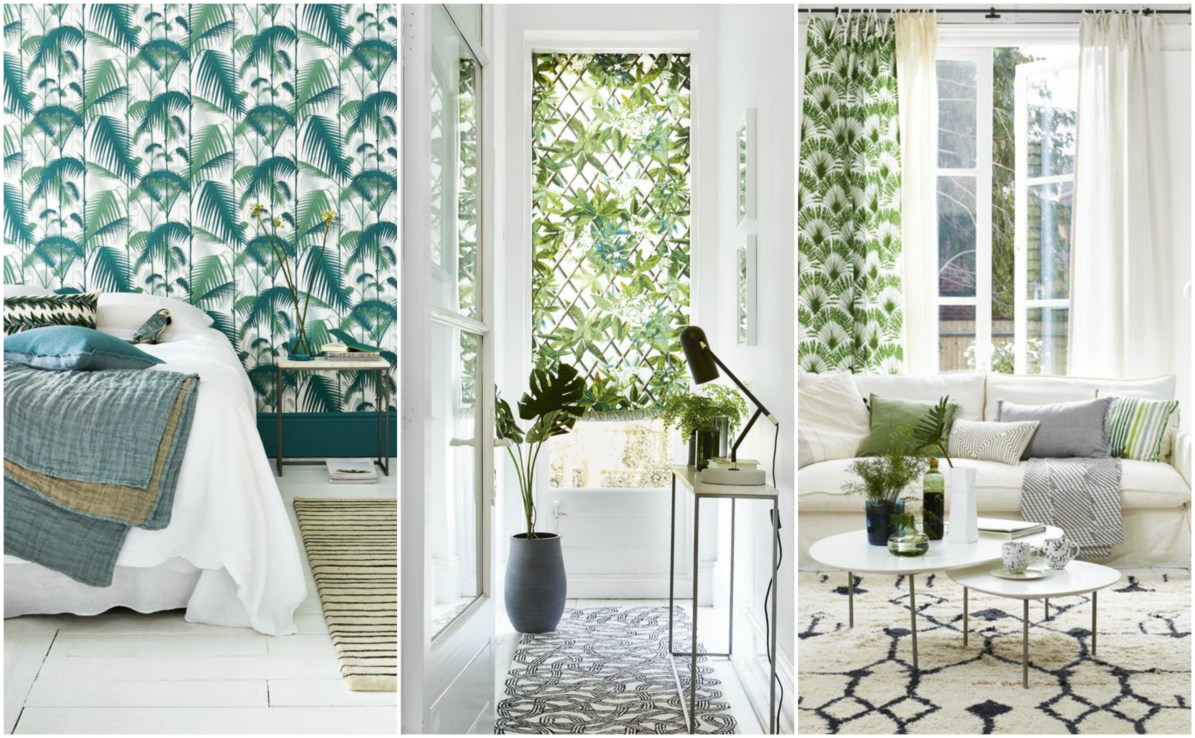 7 ways to decorate with leafy prints and bold botanical patterns at home