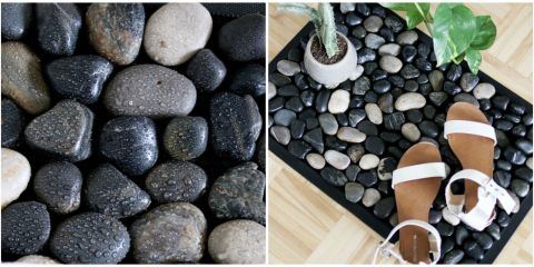 Small bathroom create space with these 7 storage ideas for River stone bath mat