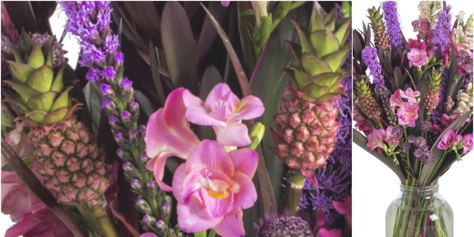 bloom wild is selling mini pineapple flower bouquets