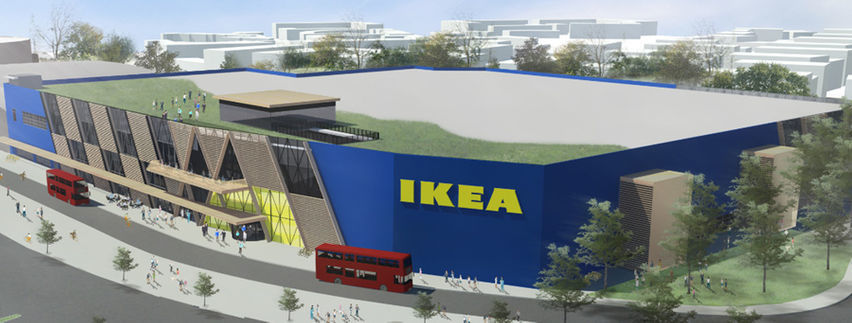 ikea 39 s new 100 million greenwich store includes a rooftop pavilion and biodiversity garden. Black Bedroom Furniture Sets. Home Design Ideas
