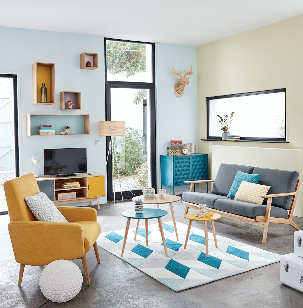 The 5 best colours for a happy home according to an for Scrivania maison du monde