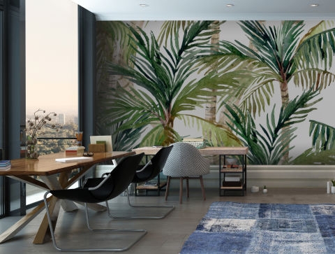 Palm Tree Print Trend 18 Tropical And Botanical Interior