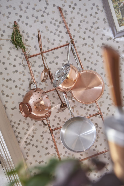 copper kitchen accessories get the look like blake. Black Bedroom Furniture Sets. Home Design Ideas